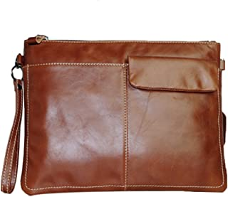 Genda 2Archer Men's Leather Purse Wallet Clutch Pouch Handbag Wrist Bag Shoulder Bag Ipad Bag