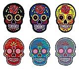 Mexican Sugar Skull parche arco de 6unidades de Patch