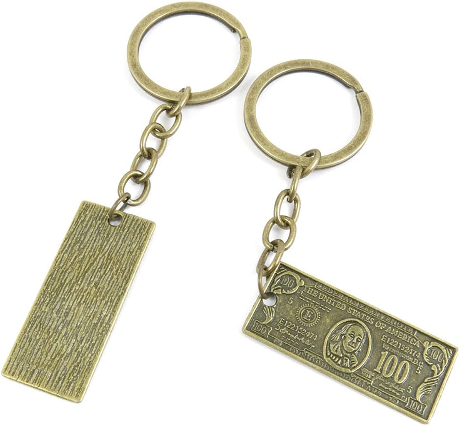 100 PCS Keyrings Keychains Key Ring Chains Tags Jewelry Findings Clasps Buckles Supplies M1UF0 100 Dollar