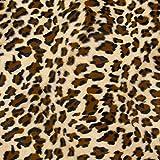 LAS TELAS ... Tela de Pelo Animal Leopardo por Metros, Ancho 1,50Mtrs. 1Mtr.