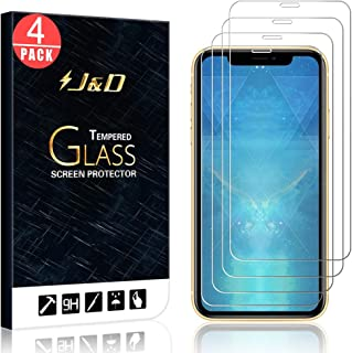 J&D Compatible for iPhone 11 Pro Glass Screen Protector, 4-Pack [Tempered Glass] [Not Full Coverage] Glass Screen Protector for iPhone 11 Pro Screen Protector - [Not for iPhone 11/iPhone 11 Pro Max]