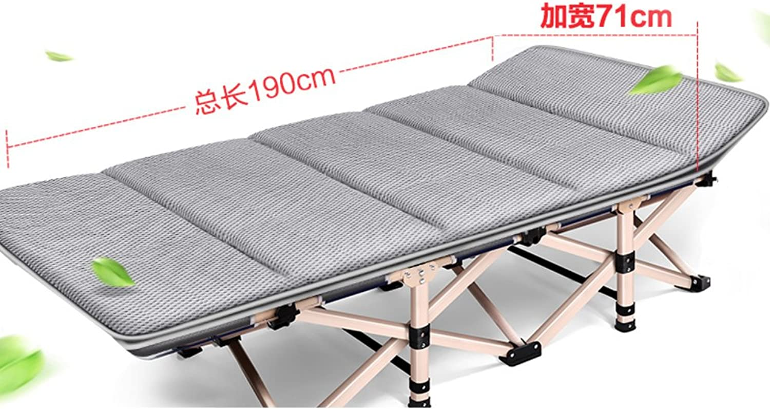 Folding Bed Single Lunch Bed nap Lounge Chair Folding Office rollaway Bed [Simple],[Portable],March,Beach rollaway Bed-J