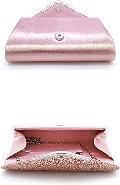 ZYHO Airlove Frauen Clutch Bag Elegante Pailletten Abend Clutch Geldbörse Kette Umhängetaschen Sparkly Pink Abend Braut Prom