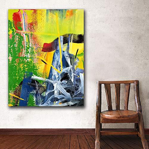 YHZSML Drucke Wandkunst Gerhard Richter Korn Malerei Wohnzimmer Wohnkultur Ölgemälde auf Leinwand Wandmalerei Ungerahmt 50x60 cm