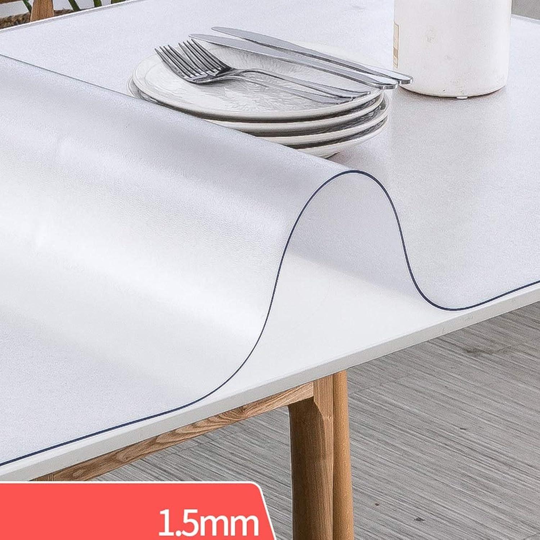 ¡no ser extrañado! Table cloth  -) Placa Placa Placa de Cristal Helada Transparente Transparente de la Estera de la Mesa de Centro de Cristal Suave Impermeable del Mantel del PVC (Color   2 , Tamaño   70  140cm)  Tu satisfacción es nuestro objetivo