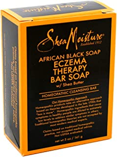Shea Moisture Soap 5 Ounce Bar African Black (Eczema Therapy) (148ml) (3 Pack)