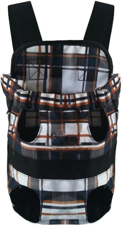 Daeou Pet Backpack Canvas Double Shoulder Chest Bag Portable Dog Bag cat cage