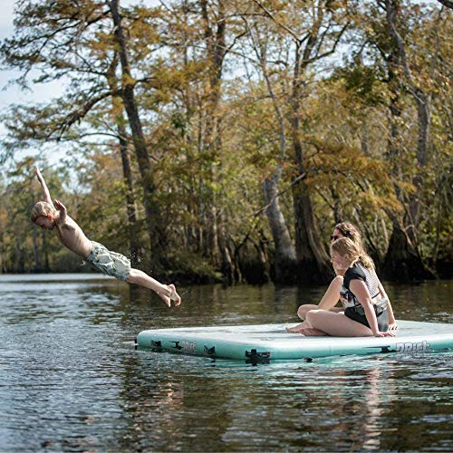 DRIFT Inflatable Lake Float | Floating Island - Dock - Raft for Pool & Beach, 8'x8'