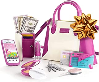 Litti Pritti Princess Toys Little Girls Purses - Pretend Play My First Purse Set - Fashionably Stylish Handbag with Makeup...