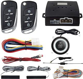 $64 » EASYGUARD EC003N-V-1 PKE Passive Keyless Entry Car Alarm System Push Start Button Remote Start Starter DC12V