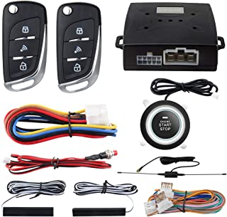 EASYGUARD PKE Passive Keyless Entry Car Alarm System Push Start Button Remote Start Starter DC12V EC003N-V-1