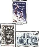 Prophila Collection Francia 2550,2551,2552 (Completa.edición.) 1986 Sellos Especiales (Sellos para los coleccionistas) Baloncesto/Voleibol/Balonmano