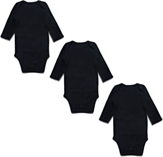 OPAWO Baby Bodysuits Long Sleeve for Unisex Boys Girls 3 Pack