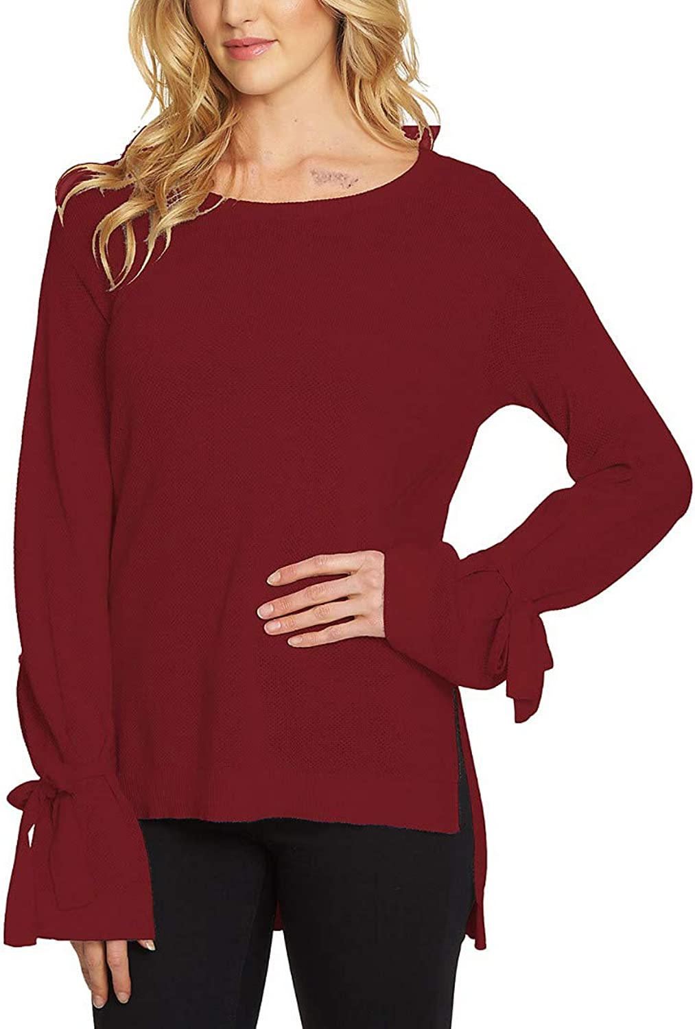 1.State Womens TieCuff Knit Sweater