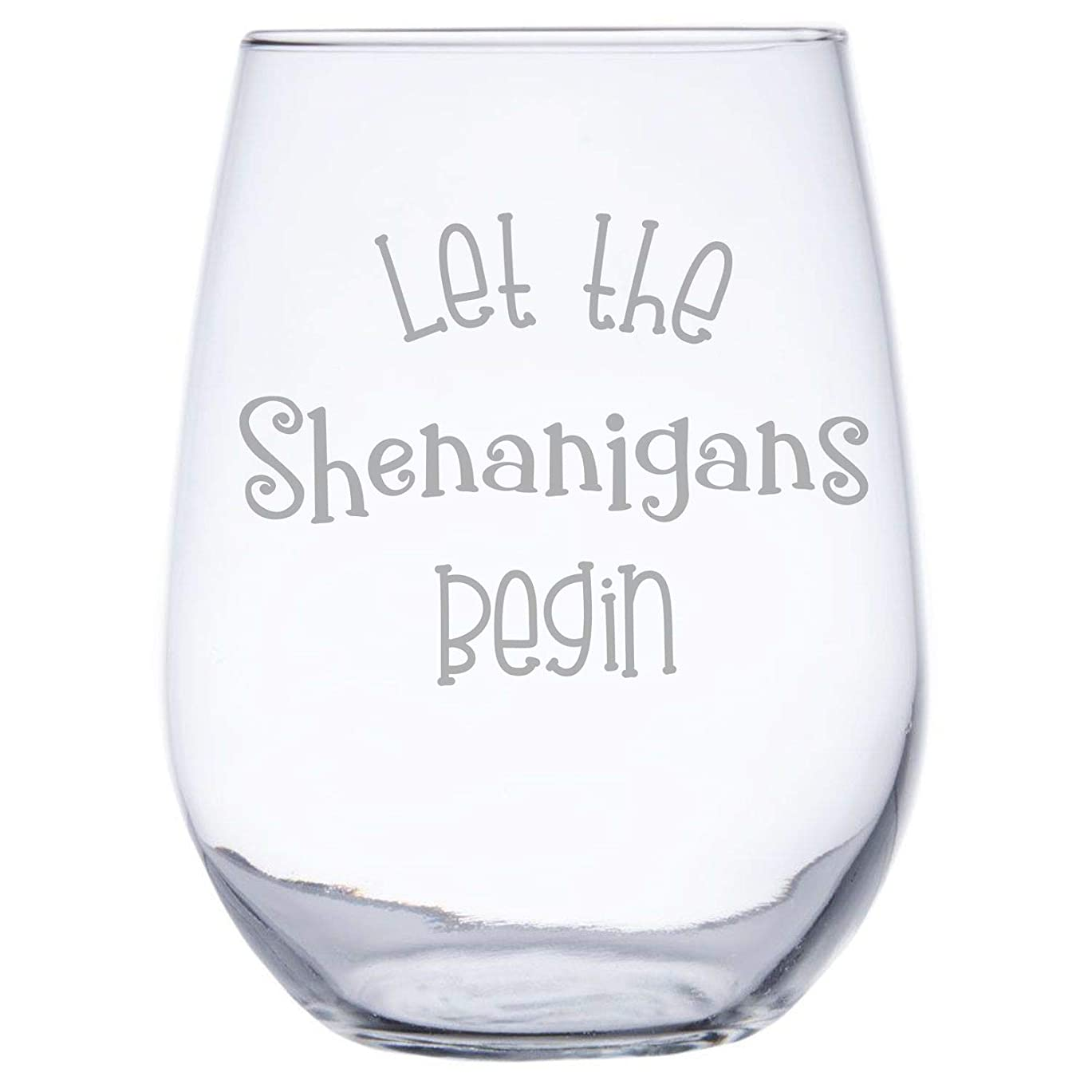 取得王室風が強いInkPonyArt Let the Shenanigans Begin Irish American 17オンス ステムレスワイングラス 聖パトリックの祝日や誕生日パーティーに最適なギフト