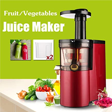 WTYD Kitchen Appliance 220V-150W Electric Juicer Fruit Vegetables Low Speed Self-Cleaning Ultra-Quiet Red Squeezing Juice Maker Extractor Kitchen Tool