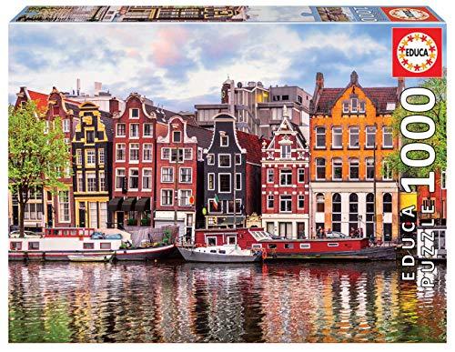 Educa- Ámsterdam Puzzle, 1000 Piezas, Multicolor (18458)