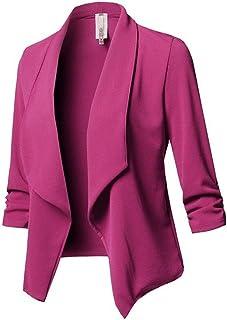 Cardigan Donna Cappotto Blazer A Tinta Unita da Donna Cappotto Cardigan Giacche E Blazer da Donna A Maniche Lunghe Giacca ...