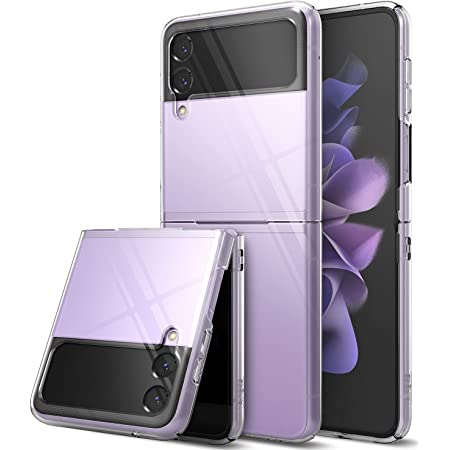 Ringke Slim Case Compatible with Samsung Galaxy Z Flip 3, Premium Thin Transparent Hard PC with Non-Slip Grip Protective Phone Cover for Z Flip3 5G (2021) - Clear