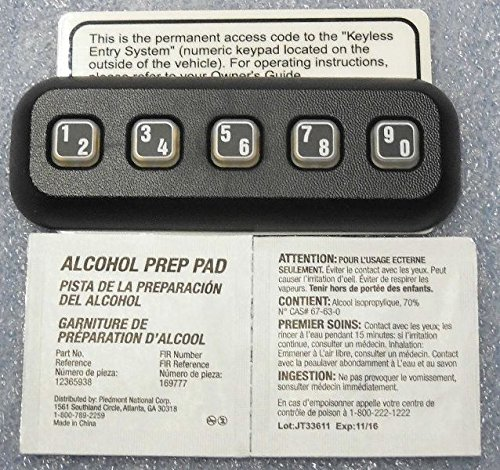 Ford OEM Factory Stock Genuine 2009 2010 2011 2012 2013 2014 F-150 F150 Keyless Entry Keypad Pad Anti Theft Actuator Remote Door
