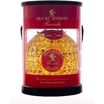 Old St. Andrews Fireside 12 Year Blended Malt Scotch Whisky Tube Pack, 70 cl