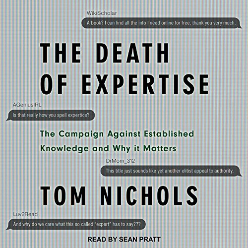 The Death of Expertise audiobook cover art