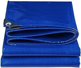Tarpaulin Duurzaam Blauw Tarp met Metalen Oogjes Grondplaat Waterdichte Cover 500g/m² Voor Camping, Vissen, Tuinbad Cover ...