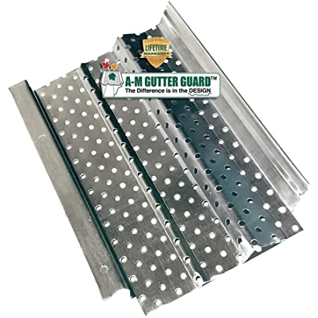 DIY Premium Contractor Grade 35 Year Aluminum Covers White or Black LeafTek 5 x 32 Gutter Guard Leaf Protection 32//100//200 Available in 5 or 6 Inch