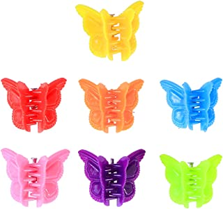 100pcs Butterfly Snap Clip Hair Barrette Lovely Clip Assorted Color Mini Hair Claw Hair Clamps for Girl Kids (Random Color)