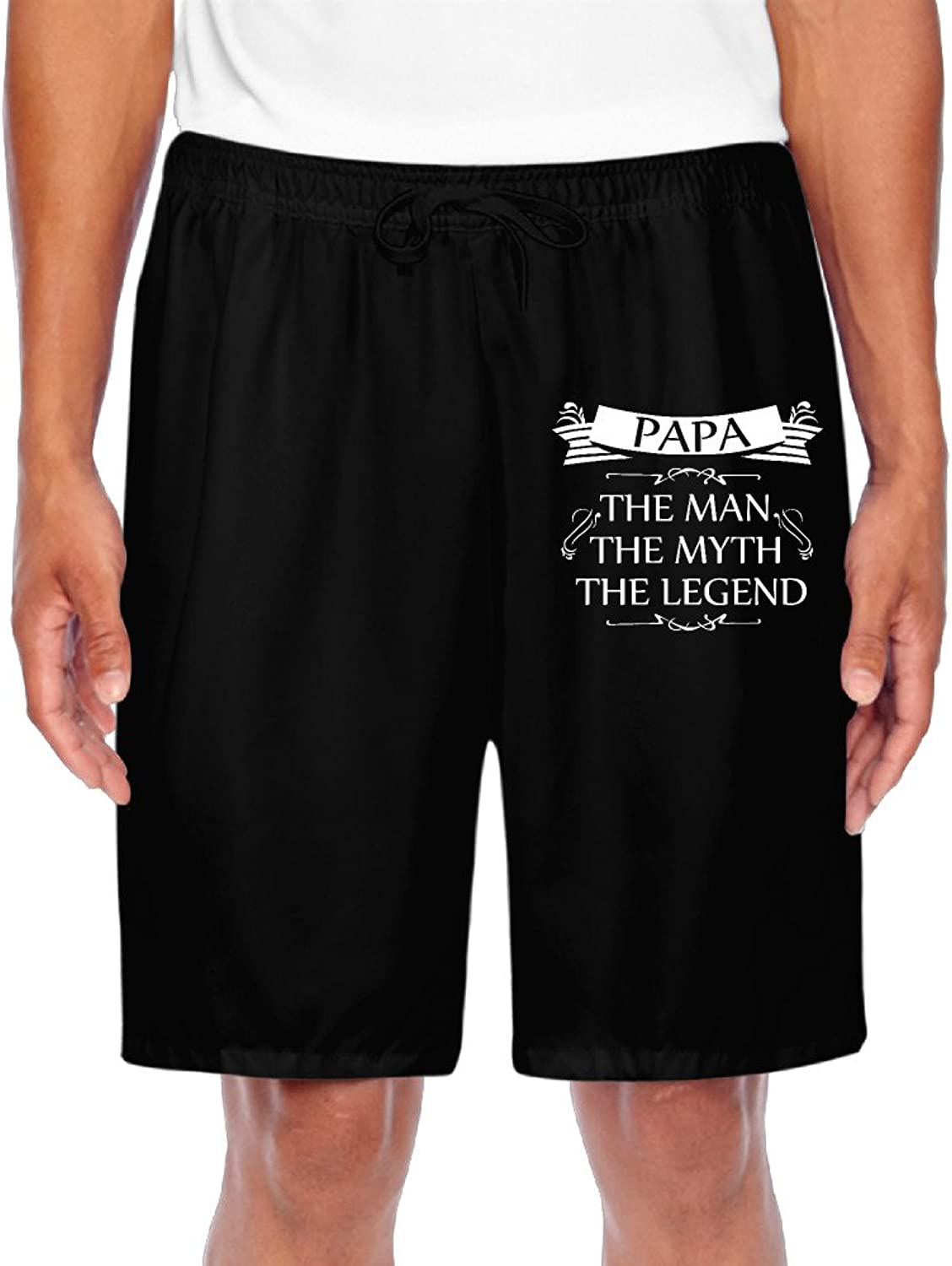 Men's Papa The Man The Myth The Legend Fathers Shorts Gym