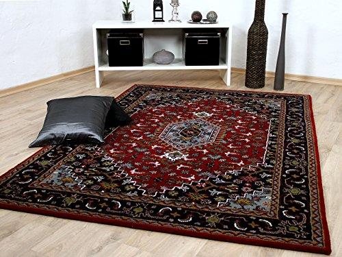 Theko Natur Orientteppich Royal Rot Blau Bidjar in 8 Größen