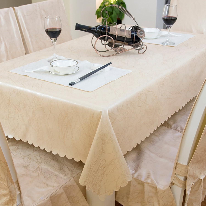 alto descuento NAUY- Pao de tabla de estilo europeo impermeable, impermeable, impermeable, a prueba de aceite, antideslizante, antideslizante, mesa de café alfombra de mesa rectangular ( Tamaño   1.31.9m )  liquidación hasta el 70%