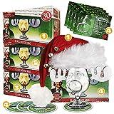 4er Set Schöne Bescherung Elchglas Christmas Vacation Moose Mug aus Glas offiziell lizensiert in...