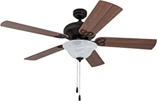 Prominence Home 80025-01 Cole Creek LED Ceiling Fan, Globe Light, Reversible Fan