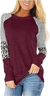 Womens Tops,Women Casual Leopard Printing Long Half Sleeve Tank Top T Shirt Blouse Sweatshir