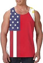 ParK US Philippines Flag Fashion Men's 3D Tank Tops Sleeveless
