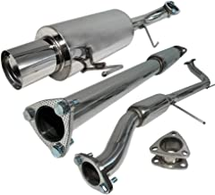 Fit 1998-2002 Honda Accord 4CYL (2.3L SOHC Engine Only) 2.5 Inch Stainless Steel Catback Exhaust System 4 Inch Muffler Tip
