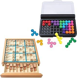 ABINECS IQパズル 数独 (2種セット) 立体パズル 脳トレゲーム ナンプレ 知育玩具 チャレンジゲーム ボードゲーム 独数 玩具 高齢者 ボケ防止