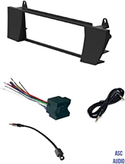 ASC Car Stereo Install Dash Kit, Wire Harness, and Antenna Adapter Combo to Install an Aftermarket Single Din Radio for 2003 2004 2005 2006 2007 2008 BMW Z4,