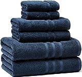 Veteran Textile Towel, Luxury Hotel & Spa, Turkish Cotton,6 Pieces Towels Set, Max-Softness by Veteran Textile (Marine Blue)