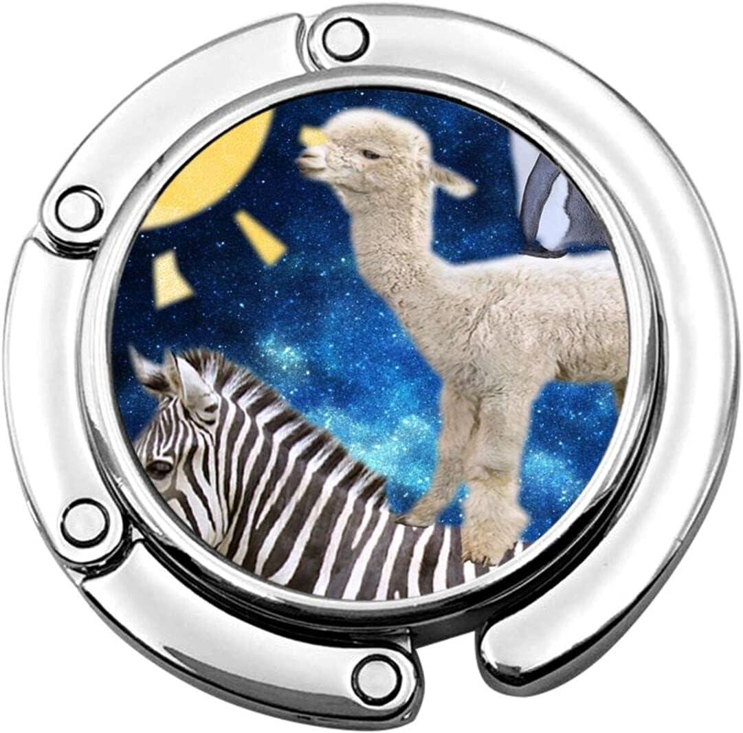 YANIC Purse Hook for Table Cheap super special price Zebra Penguin Alpaca Bag Superior Ha Portable