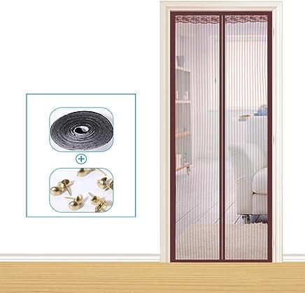 555901c4324ca Mei Moustiquaire magnétique pour portes Rideau à maille magnétique estival  anti-moustiques anti-moustiques