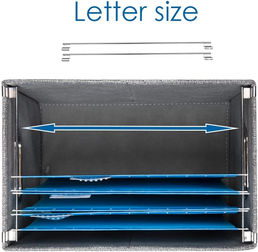 14x9.3x10.8 inch Prandom File Organizer Box Set of 1 Collapsible ...