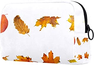 Autumn Leaves Makeup Bag Toiletry Bag for Women Skincare Cosmetic Handy Pouch Zipper Handbag