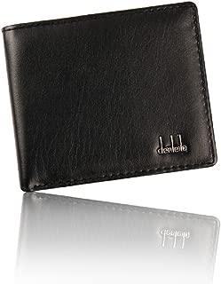 DZT1968(TM) Men PU Leather Bifold Credit Cards Holder Purses Money Wallet Gift (Black)
