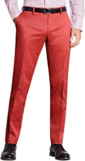 Mens Clark Fit Stretch Advantage Chinos Pants Dark Pink