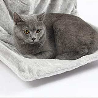 Uion Soft Cat Hammock with Stable Frame Install Easy Sleeping Cat Kennel Cat Bed Radiator Pad Hanging