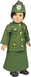 The Queen's Treasures Salvation Army Historic Uniform Complete with Skirt, Jacket and Hat with Salvation Army Badge. Outfit Compatible with 18 inch American Girl Dolls Clothes & Accessories.