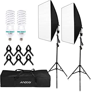 Honorall Photography Studio Cube Umbrella Softbox Light Lighting Tent Kit Photo Video Equipment 2 * 135W Bulb 2 * Tripod S...