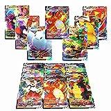RULY Cartas de Pokemon (40VMAX+60V), 100 Tarjetas de Intercambio de Pokemon, Cartas Pokemon GX Mega, Regalos para niños, Juego de Cartas Divertido de Rompecabezas
